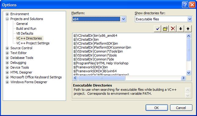 Using released 64 bits build environnement from Platform SDK